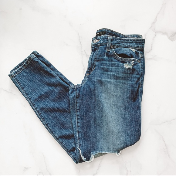 Joe's jeans high rise skinny ankle distressed jean